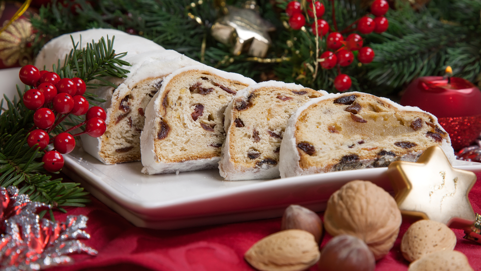 Traditional German Christmas cake - Cranberry Stollen
