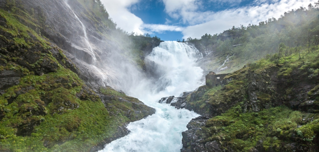 Kjosfossen Waterfall