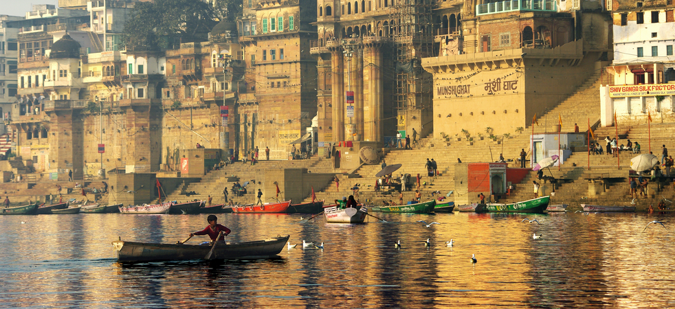 On the river Ganges in Varanasi